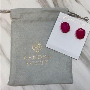 Kendra Scott Magenta Morgan earrings